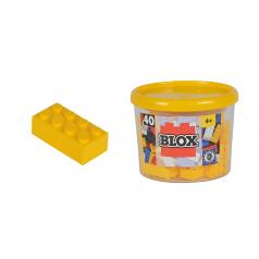 Blox 40 stavebnice Kostičky žluté v boxu