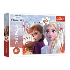 Trefl Puzzle Ledové království II/Frozen II 60 dílků 33x22cm v krabici 21x14x4cm