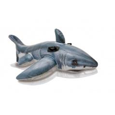 Intex Lehátko žralok bílý s úchyty nafukovací 173x107cm
