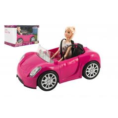 Teddies Bábika kĺbová 30cm plast s autom na voľný chod v krabici 32x20x20cm