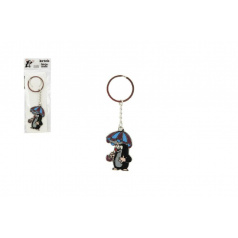 Teddies Kovový prívesok Krtko s dáždnikom na kľúče 5cm v sáčku