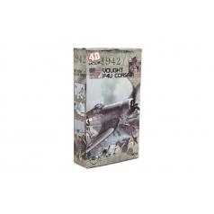 Teddies Letadlo model Vought F4U Corsair 4D plast mix druhů v krabici 13x22x4,5cm 6ks v boxu