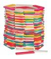 Woody Stavebnice přírodní/barevná - Simona, 200ks