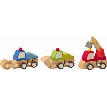 WoodyNatahovací autíčko - stavební stroje