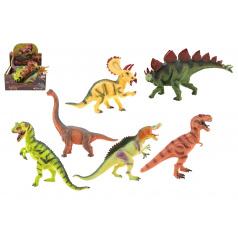Teddies Dinosaurus 25-32cm plast 6 druhů 6 ks v boxu