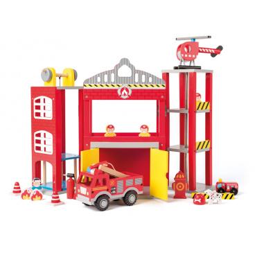 Woody 91810 Velká hasičská stanice s autíčky