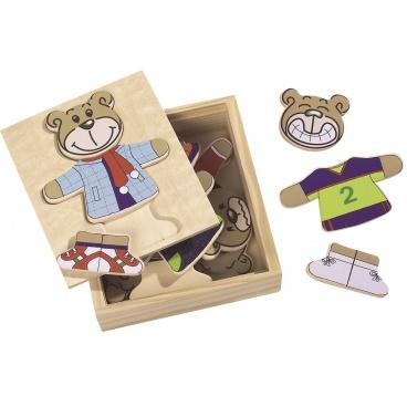Simba Eichhorn Simba Dřevěná skládačka medvídek