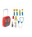 Teddies Sada doktor/lékař plast se stetoskopem na baterie v plastovém kufříku na kolečkách 24x33x10cm