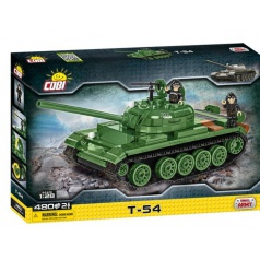 Cobi 2613 Small Army Tank T-54, 1:28, 480 k, 2 f, stavebnice