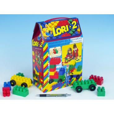 LORI Stavebnica LORI 2 plast 35 ks v krabici 19x28x10cm
