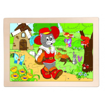 """Woody Puzzle """"Kocour v botách"""""""