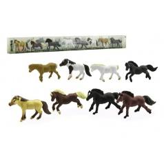 Teddies Koně plast 7cm 8ks v tubě 57x6x3cm
