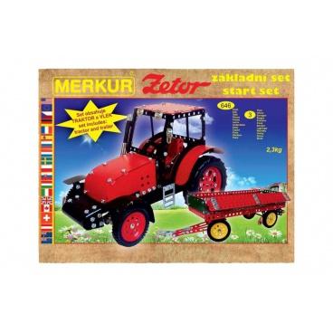 Merkur Toys Stavebnice MERKUR Zetor základní set 646ks 3 vrstvy v krabici 36x27x8,5cm