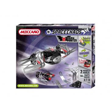 Meccano 805102 Space Chaos Dark Pirates Fighter kovová stavebnice
