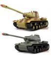 RC 2 soubojové tanky na dálkové ovkádání 1:36 infrared 2ks tanků v balení