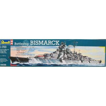 Revell Plastic ModelKit loď 05098 - Battleship Bismarck (1:700)