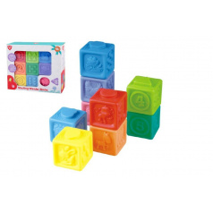 teddies Gumové kostky 9ks 5x5cm v krabici 23x21x6cm 18m+