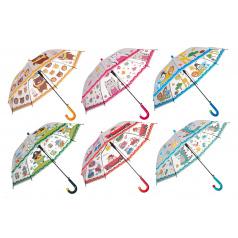 Teddies Deštník 66cm vystřelovací 6 barev
