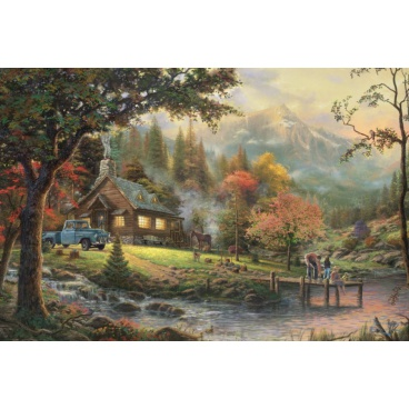Schmidt puzzle 500 dílků Idylka u řeky Thomas Kinkade