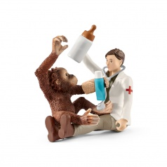Schleich 42353 Veterinář s opicí