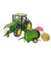 SIKU Control - limitovaná edice traktor John Deere + vlek JOSKIN 1:32