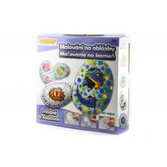 SMT Creatoys Malování na oblázky/kameny Dračí vejce kreativní sada v krabičce 15x14,5x4cm