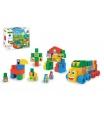 WADER Kostky stavebnice Middle Blocks plast 33ks v krabici 30x25x12cm