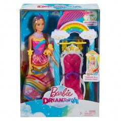 Mattel Barbie Princezna s duhovou houpačkou