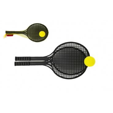 Lori Soft tenis plast černý+míček 53cm v síťce