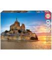 EDUCA 17665 Puzzle 1000 dílků - Mont Saint Michel