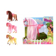 Teddies Kôň Sofie plast 26cm asst 4 farby v krabici