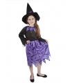Rappa Dětský kostým čarodějnice s netopýry a kloboukem/Halloween (S)
