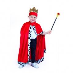 RAPPA hračky Kostým plášť královský dětský
