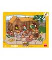 Dino puzzle dětské Zvířátka 12D deskové