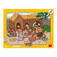 Ostatní Dino puzzle dětské Zvířátka 12D deskové