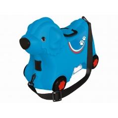 Big Kufřík odstrkovadlo pejsek modrý s kolečky