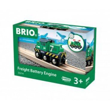 Brio 33214 Elektrická mašinka lokomotiva zelená, baterie AA není součástí