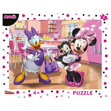 Dino Minnie Dino puzzle dětské WD Růžová Minnie 40D deskové