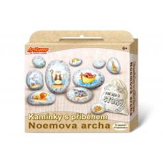 SMT Creatoys Malování na oblázky/kameny s příběhem Noemova archa  kreativní sada  v krabičce 19x16x4cm