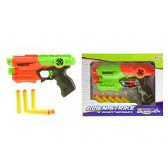 Teddies Pištoľ na penové náboje 5ks plast 20cm asst 2 farby v krabici