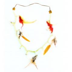 Rappa Indiánský náhrdelník s barevným peřím