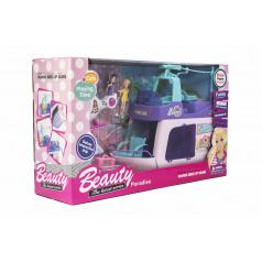 Teddies Loď pre bábiky s bábikami 2ks plast 33cm s helikoptérou s doplnkami v krabici 49x29x14cm