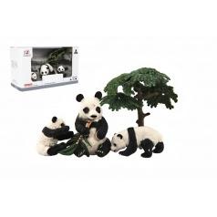 Teddies Zvířátka safari ZOO 10cm sada plast 4ks panda 2 druhy v krabičce 22x13x9,5cm
