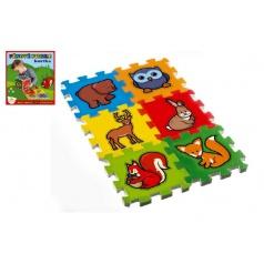 Teddies Pěnové puzzle Moje první lesní zvířátka 15x15x1,2cm 6ks MPZ
