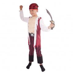 Rappa Dětský kostým pirát s šátkem a vycpanou hrudí (M)