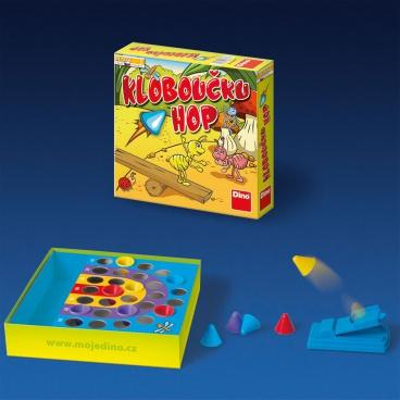 DINO Kloboučku hop hra