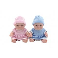 Teddies Miminko panenka pevné tělo plast 20cm 2 barvy