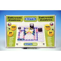 Boffin Stavebnica Boffin 100 elektronická 100 projektov na batérie 30ks v krabici