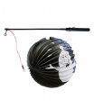 Rappa Lampion duch Halloween koule 25 cm se svítící hůlkou 39 cm
