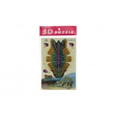 3D puzzle dinosaurus skládačka papírové asst 4 druhy v sáčku 15x26x0,5cm